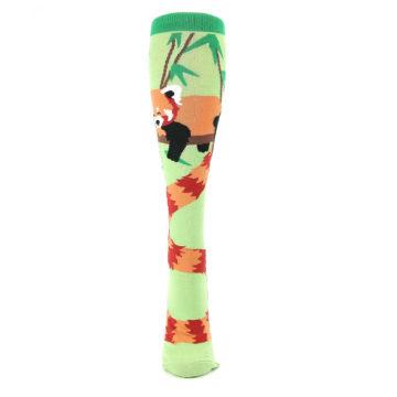 Image of Green Red Panda Women's Knee High Sock (front-05)