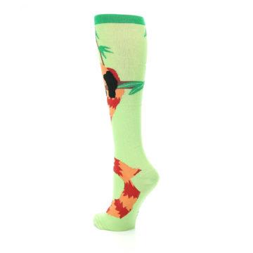 Image of Green Red Panda Women's Knee High Sock (side-2-back-15)