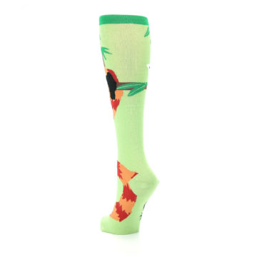 Image of Green Red Panda Women's Knee High Sock (side-2-back-16)