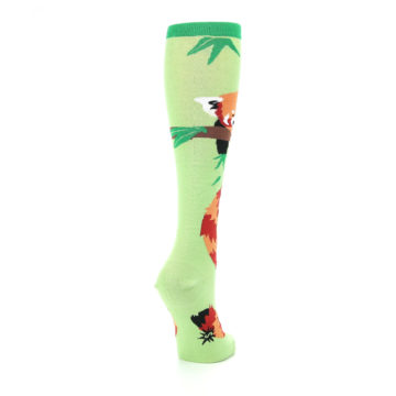 Image of Green Red Panda Women's Knee High Sock (side-1-back-21)