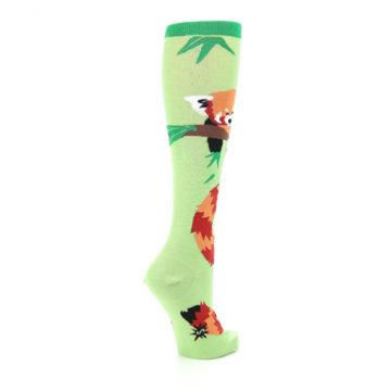 Image of Green Red Panda Women's Knee High Sock (side-1-back-22)
