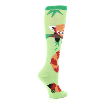 Image of Green Red Panda Women's Knee High Sock (side-1-23)