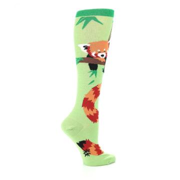 Image of Green Red Panda Women's Knee High Sock (side-1-24)