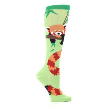 Image of Green Red Panda Women's Knee High Sock (side-1-25)