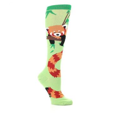 Image of Green Red Panda Women's Knee High Sock (side-1-26)