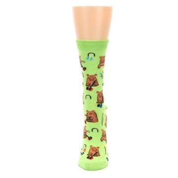Image of Green Whack-a-Mole Women's Dress Sock (side-2-front-06)