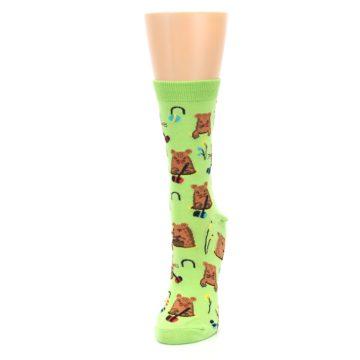 Image of Green Whack-a-Mole Women's Dress Sock (side-2-front-07)