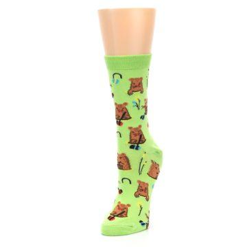 Image of Green Whack-a-Mole Women's Dress Sock (side-2-front-08)