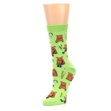 Image of Green Whack-a-Mole Women's Dress Sock (side-2-09)
