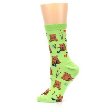 Image of Green Whack-a-Mole Women's Dress Sock (side-2-12)
