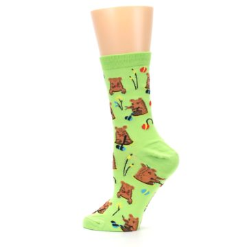 Image of Green Whack-a-Mole Women's Dress Sock (side-2-13)
