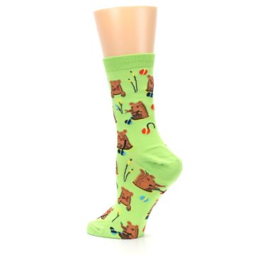 Image of Green Whack-a-Mole Women's Dress Sock (side-2-back-14)