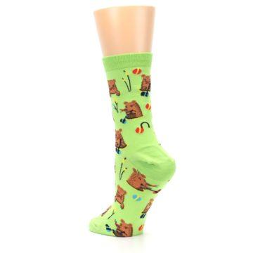 Image of Green Whack-a-Mole Women's Dress Sock (side-2-back-15)