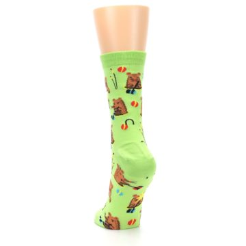Image of Green Whack-a-Mole Women's Dress Sock (back-17)