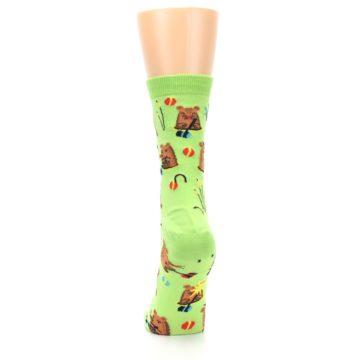 Image of Green Whack-a-Mole Women's Dress Sock (back-18)