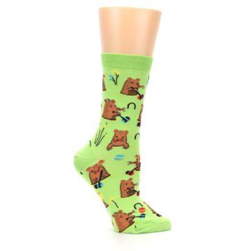 Image of Green Whack-a-Mole Women's Dress Sock (side-1-25)