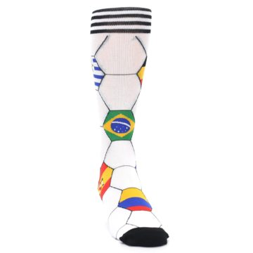 Image of White World Flag Soccer Men's Dress Socks (side-1-front-03)