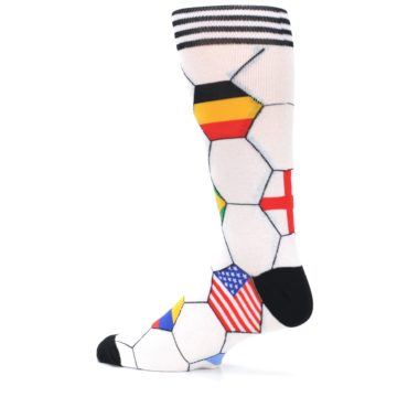 Image of White World Flag Soccer Men's Dress Socks (side-2-13)