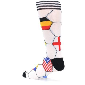 Image of White World Flag Soccer Men's Dress Socks (side-2-back-14)