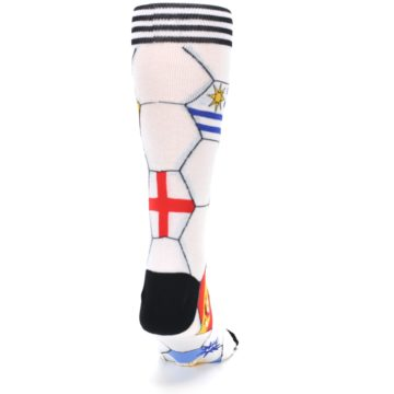 Image of White World Flag Soccer Men's Dress Socks (back-19)