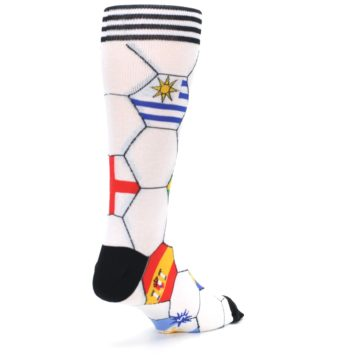 Image of White World Flag Soccer Men's Dress Socks (side-1-back-21)