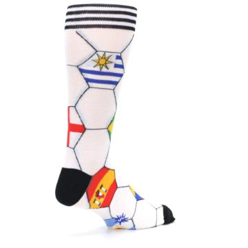 Image of White World Flag Soccer Men's Dress Socks (side-1-back-22)