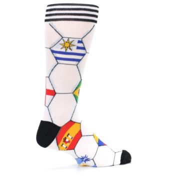 Image of White World Flag Soccer Men's Dress Socks (side-1-23)