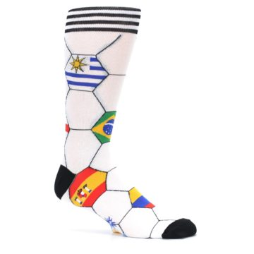Image of White World Flag Soccer Men's Dress Socks (side-1-25)