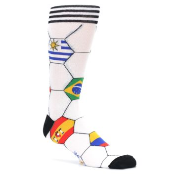 Image of White World Flag Soccer Men's Dress Socks (side-1-26)