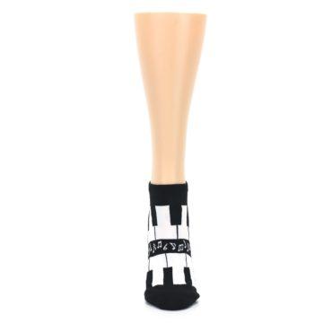 Image of Black White Piano Keys Women's Ankle Socks (front-05)