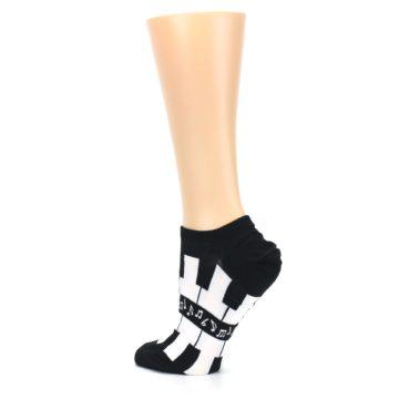 Image of Black White Piano Keys Women's Ankle Socks (side-2-back-14)