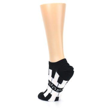 Image of Black White Piano Keys Women's Ankle Socks (side-2-back-15)