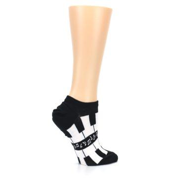 Image of Black White Piano Keys Women's Ankle Socks (side-1-24)