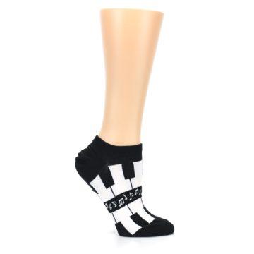 Image of Black White Piano Keys Women's Ankle Socks (side-1-25)