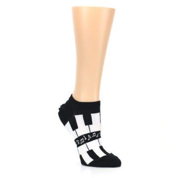 Image of Black White Piano Keys Women's Ankle Socks (side-1-27)