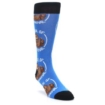 Image of Blue Seal of Approval Men's Dress Socks (side-1-front-02)