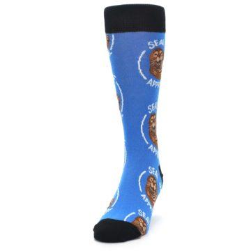 Image of Blue Seal of Approval Men's Dress Socks (side-2-front-06)