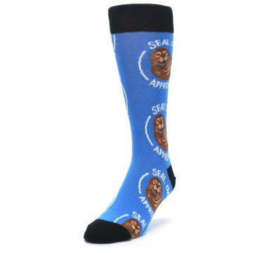 Image of Blue Seal of Approval Men's Dress Socks (side-2-front-07)