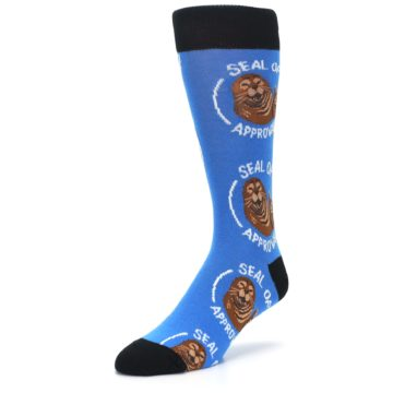 Image of Blue Seal of Approval Men's Dress Socks (side-2-front-08)