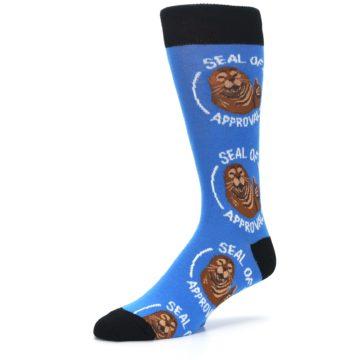 Image of Blue Seal of Approval Men's Dress Socks (side-2-09)