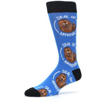Image of Blue Seal of Approval Men's Dress Socks (side-2-10)