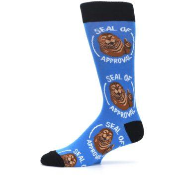 Image of Blue Seal of Approval Men's Dress Socks (side-2-11)