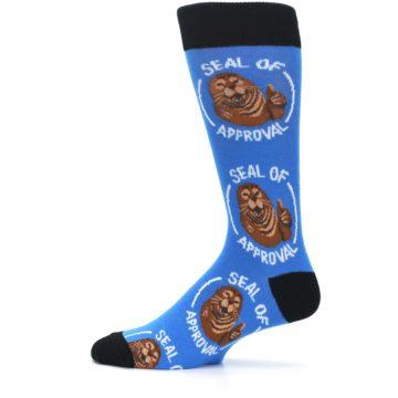 Image of Blue Seal of Approval Men's Dress Socks (side-2-12)