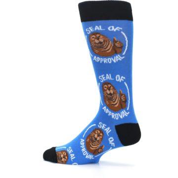 Image of Blue Seal of Approval Men's Dress Socks (side-2-13)