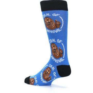Image of Blue Seal of Approval Men's Dress Socks (side-2-back-14)