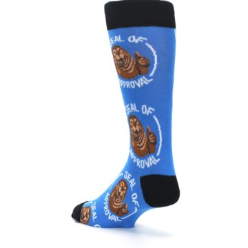 Image of Blue Seal of Approval Men's Dress Socks (side-2-back-15)