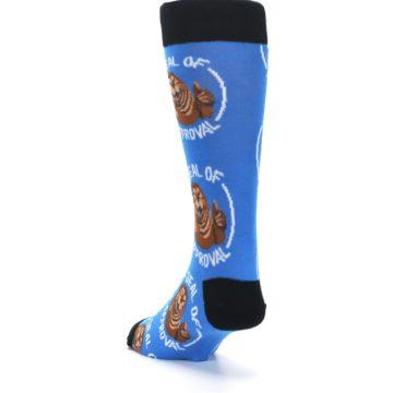 Image of Blue Seal of Approval Men's Dress Socks (side-2-back-16)