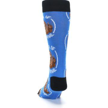 Image of Blue Seal of Approval Men's Dress Socks (back-17)