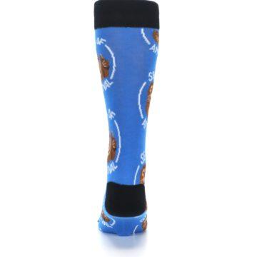 Image of Blue Seal of Approval Men's Dress Socks (back-18)