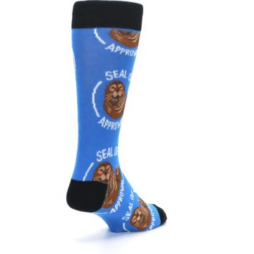Image of Blue Seal of Approval Men's Dress Socks (side-1-back-21)